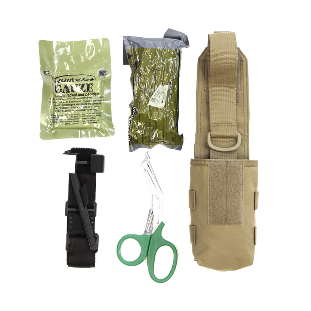 Warrior Individual First Aid Pouch Coyote Tan