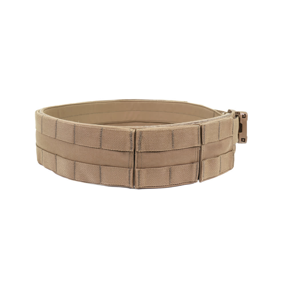 Warrior Low Profile MOLLE Belt Coyote Tan with Polymer Cobra Belt