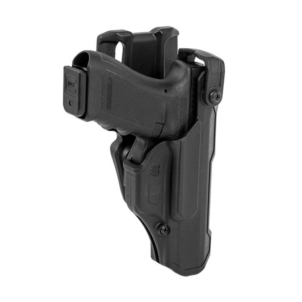 Blackhawk T-Series Level 3 Duty Non-Light Bearing Holster, Glock 17/19, Matte Black