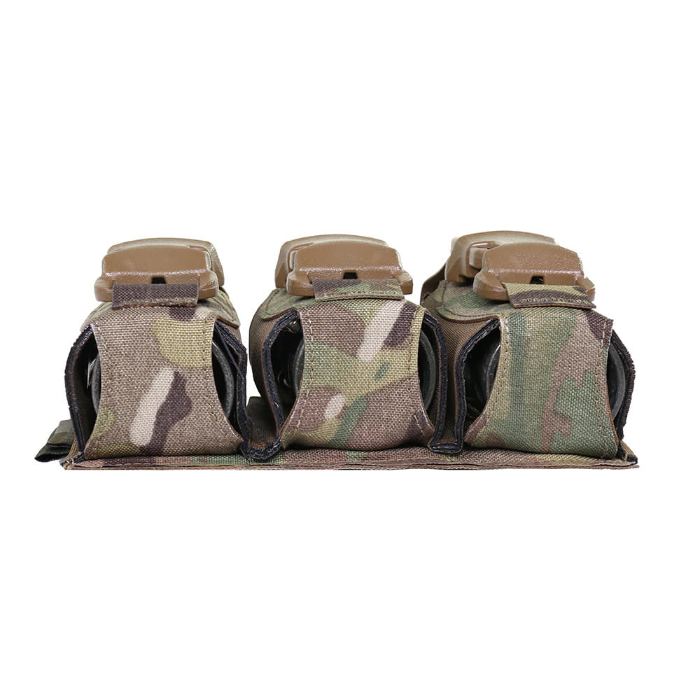 Warrior Laser Cut Triple 40mm Flash Bang Pouch MultiCam