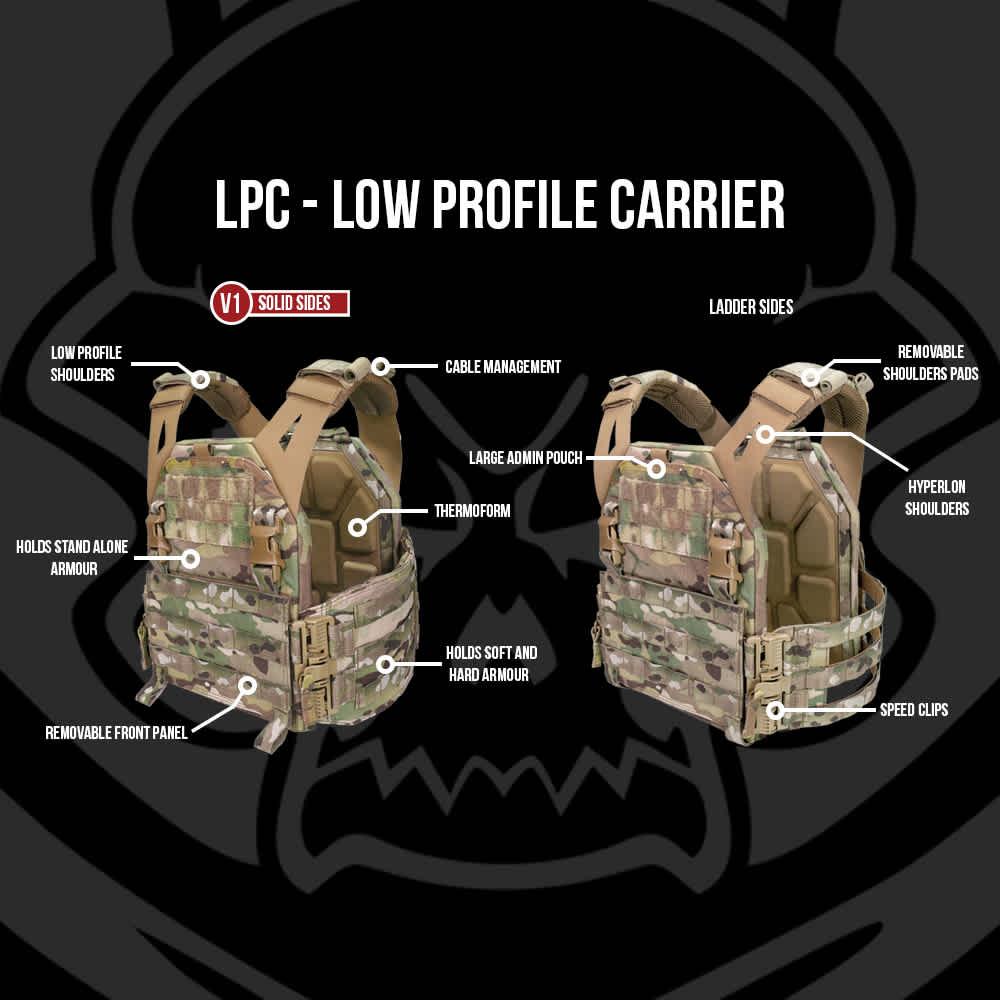 Warrior Low Profile Carrier V2 with Ladder Sides MultiCam