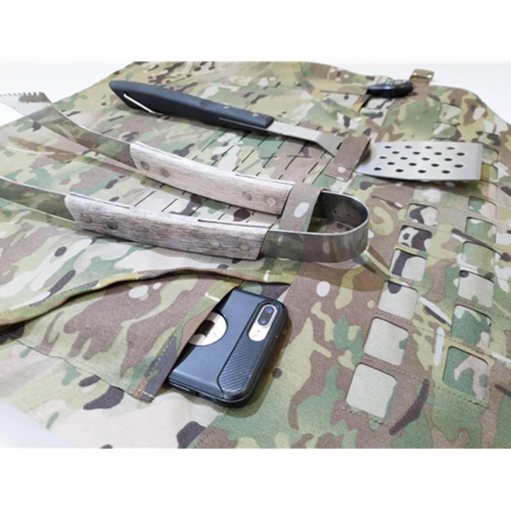 Warrior Laser Cut BBQ Apron MultiCam