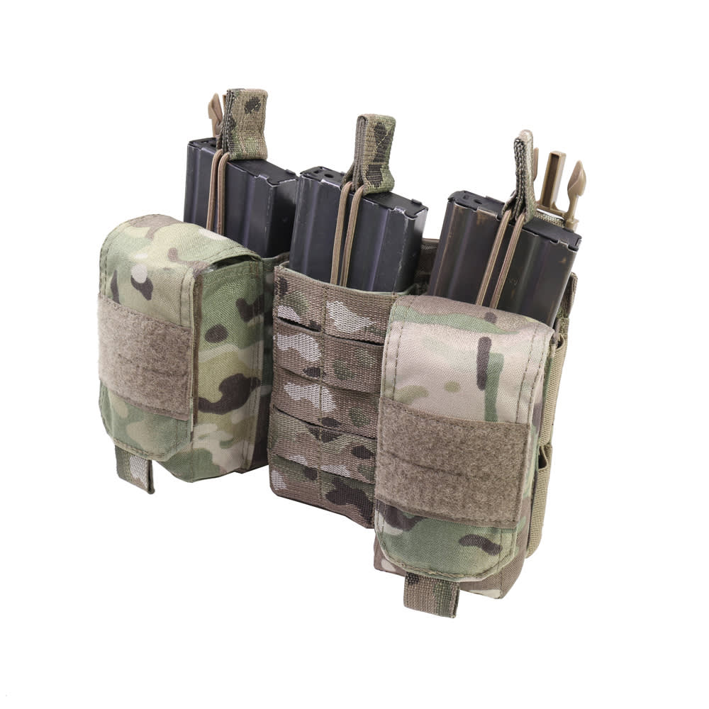 Warrior Detachable Front Panel MK1 (3x 5.56 Mag Pouches and 2 Utility Pouches) Multicam
