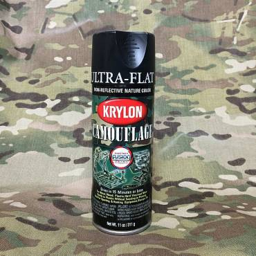 Krylon Camoflage Spray Paint Black