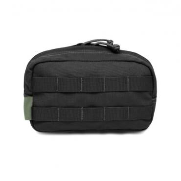 Warrior Medium Horizontal Molle Pouch Black