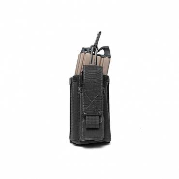 Warrior Single 5.56mm/9mm Mag Pouch Black