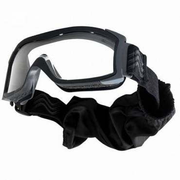 Bolle X1000 Low Profile Ballistic Goggles Clear Lens, Black Frame