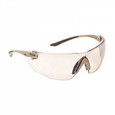 Bolle Hybrid Ballistic Glasses Kit Sand Smoke, Clear and ESP Lenses, Tan Frame
