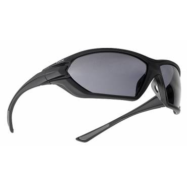 Bolle Assault Ballistic Sunglasses, Polycarbonate Smoke Lenses Black frames