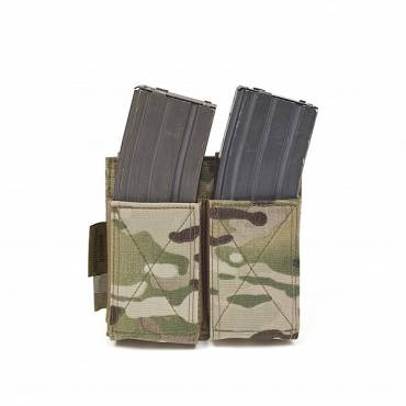 Warrior Double Elastic Mag Pouch MultiCam