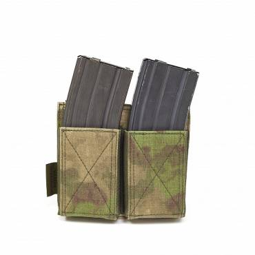 Warrior Double Elastic Mag Pouch A-TACS FG
