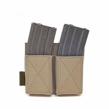 Warrior Double Elastic Mag Pouch Coyote Tan