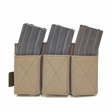 Warrior Triple Elastic Mag Pouch Coyote Tan