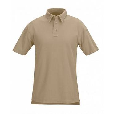 Propper F532395226 Mens Short Sleeved Cotton Polo Silver Tan