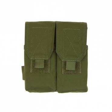 Warrior Double G36 Covered Mag Pouch OD Green