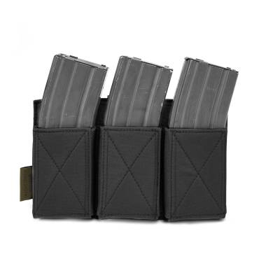 Warrior Triple Elastic Mag Pouch Black
