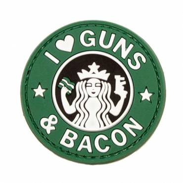 Guns and Bacon Rubber Velcro Patch