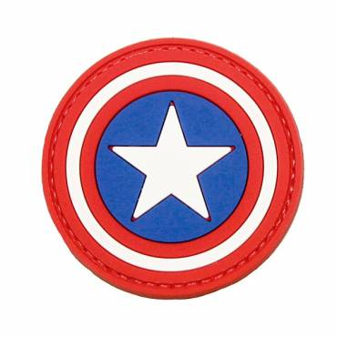Captain America Rubber Velcro Patch