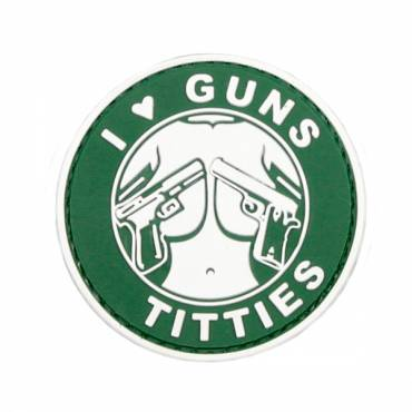 Guns and Titties Rubber Velcro Patch