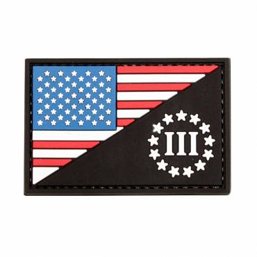 Three Percent Rubber Velcro Patch