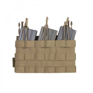 Warrior Removable Triple MOLLE Open Pouch for RPC Coyote Tan