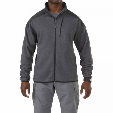 5.11 Tactical Full Zip Sweater With Abrasion Resistance - Gunpowder