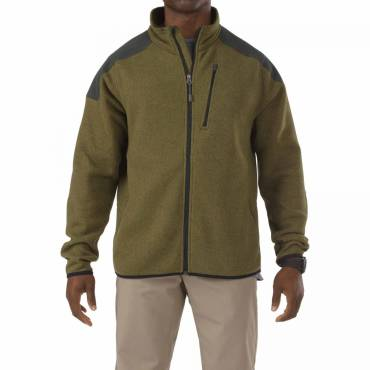 5.11 Tactical Full Zip Sweater With Abrasion Resistance - Field Green