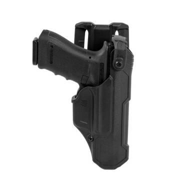 Blackhawk T-Series Level 3 Duty Non-Light Bearing Holster, Glock 17/19, Matte Black