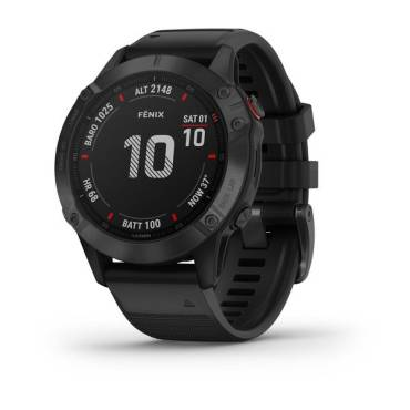 Garmin fenix 6, Pro, Black w/black Band, GPS Watch, EMEA