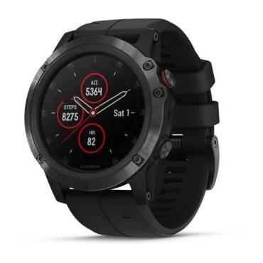 Garmin fenix 5x Plus,Sapphire,Black w/BLK Bnd, GPS Watch, EMEA