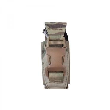 Warrior Laser Cut Single 40mm Flash Bang Pouch MultiCam