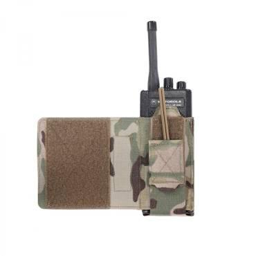 Warrior Laser Cut Wing Velcro Adjustable Radio Pouch Left Side MultiCam