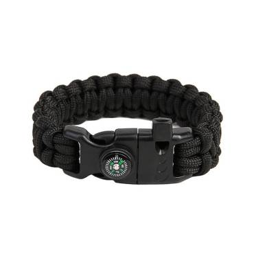 Survival Paracord Bracelet Cobra Black