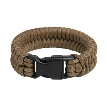 Survival Paracord Bracelet Fish Coyote Brown