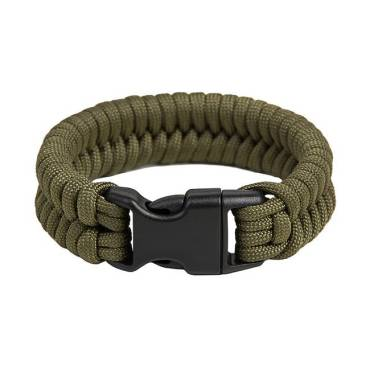 Survival Paracord Bracelet Fish Olive Green