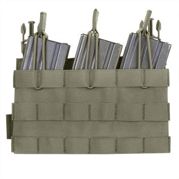 Warrior Removable Triple MOLLE Open Pouch for RPC Ranger Green