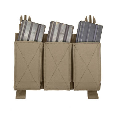 Warrior Removable Triple Elastic Mag Pouch Coyote Tan
