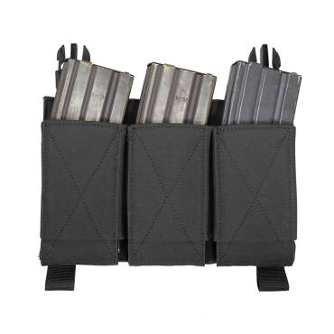 Warrior Removable Triple Elastic Mag Pouch Black
