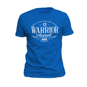 Warrior Vintage T-Shirt Royal Blue