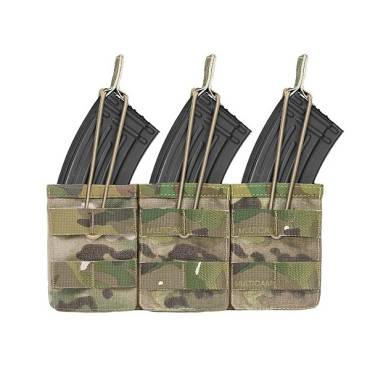 Warrior Triple Open AK7.62mm Open Mag Pouch MultiCam