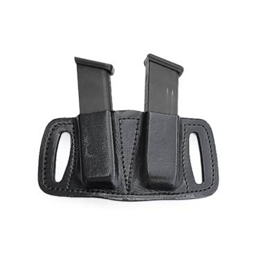 Fast Draw Leather Double Mag Holder