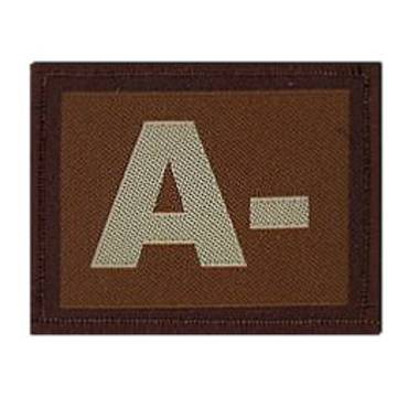 Warrior A - Negative Velcro Patch - Tan