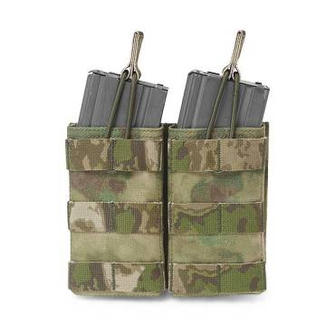 Warrior Double 5.56mm Open Mag Pouch A-TACS FG