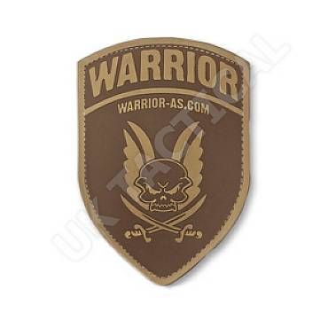 Warrior Rubber Logo Shield Dark Earth