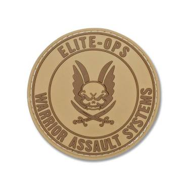 Warrior Round Rubber Logo Shield Coyote Tan