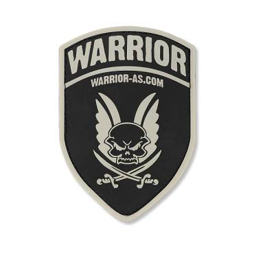 Warrior Rubber Logo Shield Black