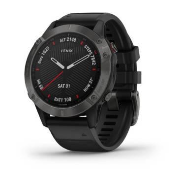 Garmin fenix 6, Sapphire,Gray w/Black Band, GPS Watch, EMEA