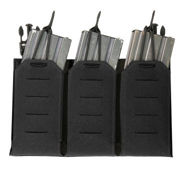 Warrior Laser Cut Triple Bungee 5.56 Panel Black
