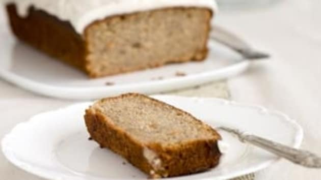 Banana cake with cream cheese frosting good food channel banana cake with cream cheese frosting forumfinder Choice Image