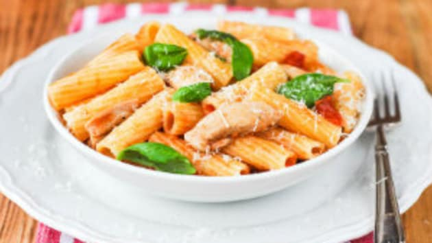 Chicken Pasta With Parmesan And Basil Good Food Channel